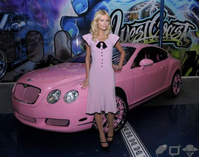 Paris Hilton's new Bentley (23 photos)