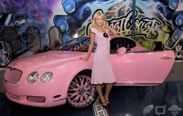 Paris Hilton's new Bentley (23 photos)