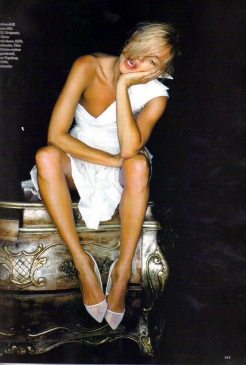 Kate Moss. Before and now (46 photos)
