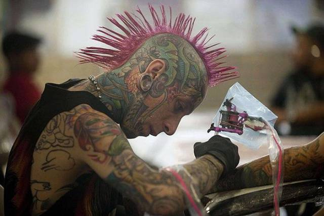 Well, It Looks Like Sometimes There Can Be Too Much Of Piercing And Tattooing