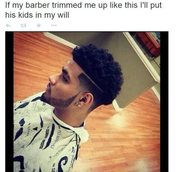 When Barber Gets What You Want Straight Away…