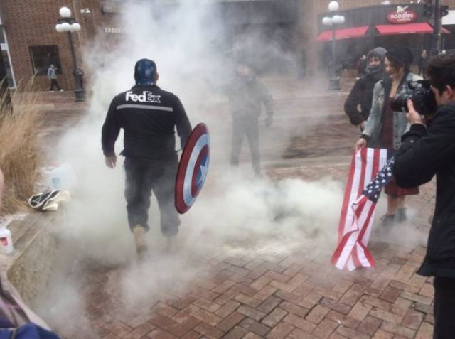 Captain America Has A Strong Opponent In This FedEx  Worker From Now On