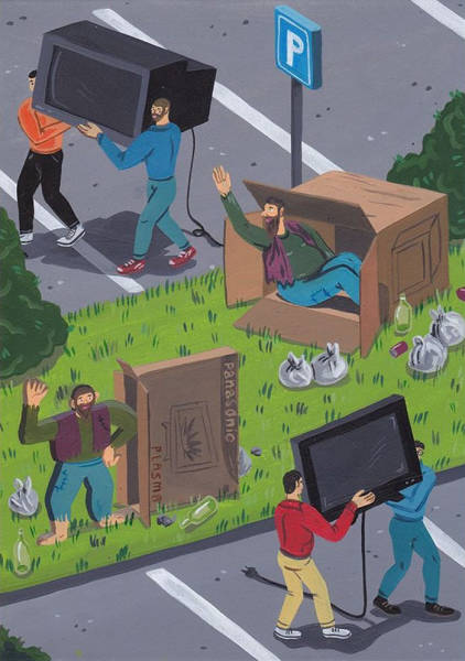 These Satirical Illustrations Of Modern Society By Brecht Vandenbroucke Are Just Screaming With Painful Truth