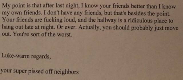 This Neighbor Should Write A Book On How To Be Passively Aggressive
