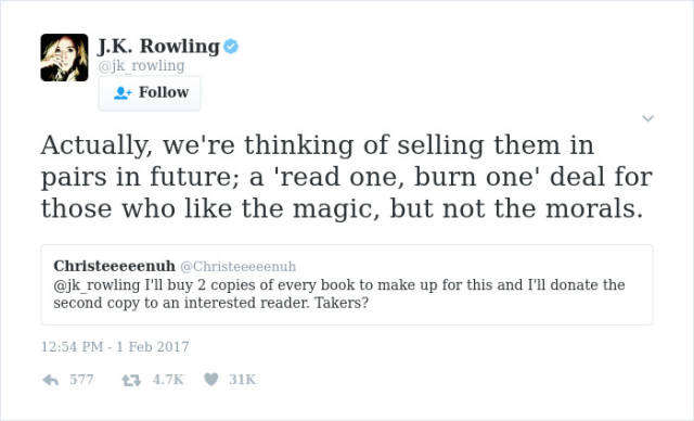 J. K. Rowling Is Not Only Good At Writing Books, But Also At Writing Brutal Twitter Responses