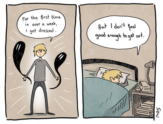Sink Into The Grim World Of Anxiety And Depression Through These Comics