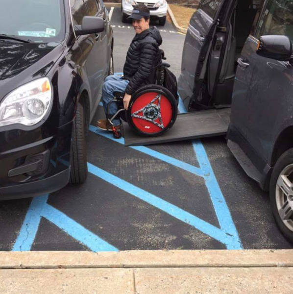 Never Ever Park In Handicap Spot. They're Called So For A Reason