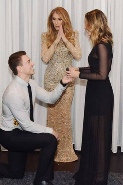 Nothing Makes Your Proposal Better Than Celine Dion's Reaction