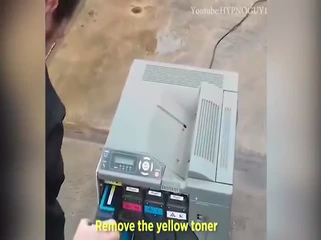 Totally Professional Printer Fixing (Do Not Try This At Home)