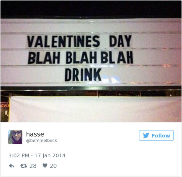 Funny And Bitter Loneliness Fills The Internet On Valentine's Day
