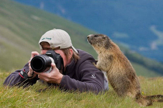 When Photographer Becomes The Photographed…