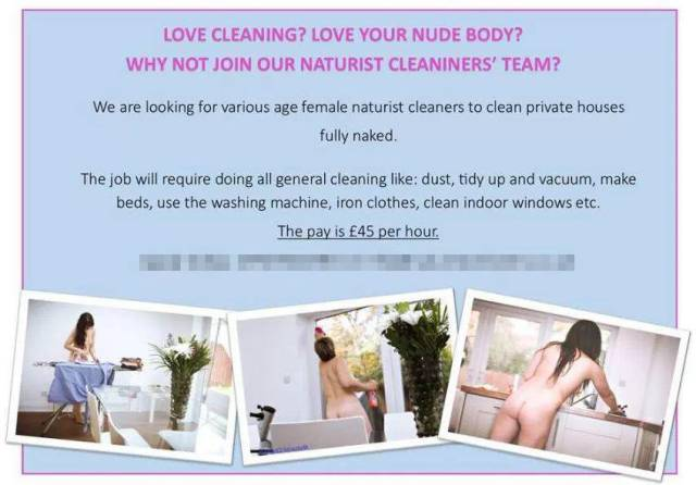 And What Would You Pay For A Sexy Woman Cleaning Your House Completely Nude?