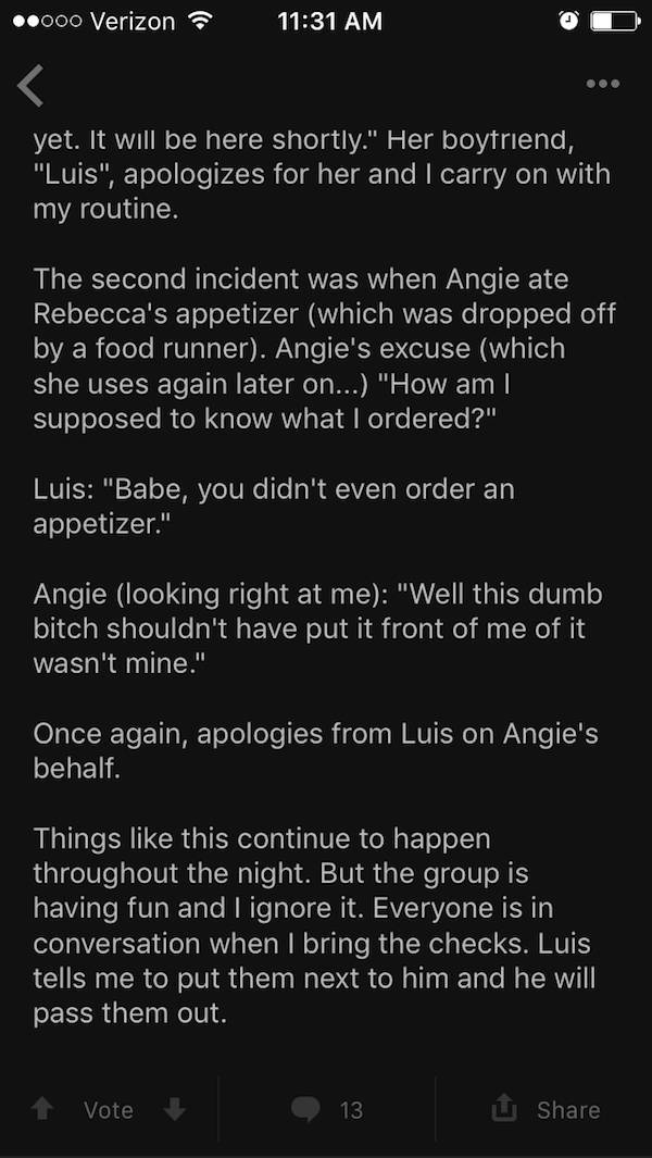 "Never Be Like ""Angie"". You Just Better Don't"