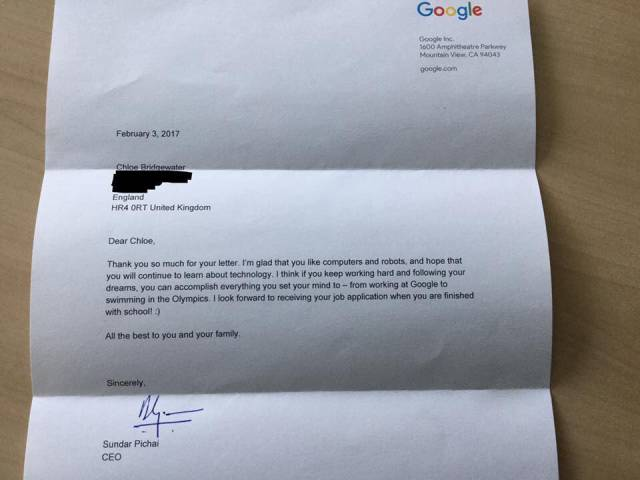This Little 7-Year-Old Girl Is So Dedicated To Her Dreams That Even Google's CEO Appreciated It Publicly