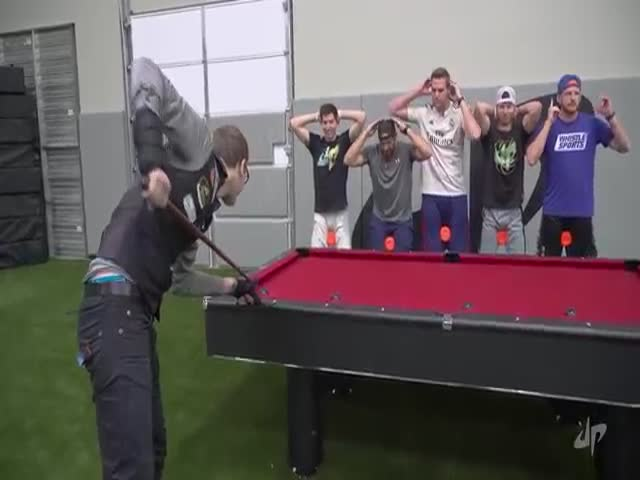 This Guy Does Impossible Things With Pool Trick Shots