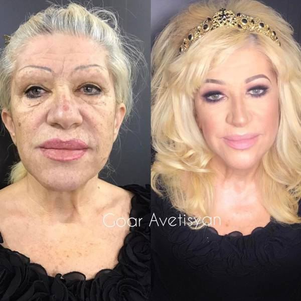 Woman + Makeup = Completely Another Woman…