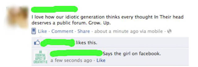 Oh, The Ultimate Irony Of Being A Hypocrite On Social Media…