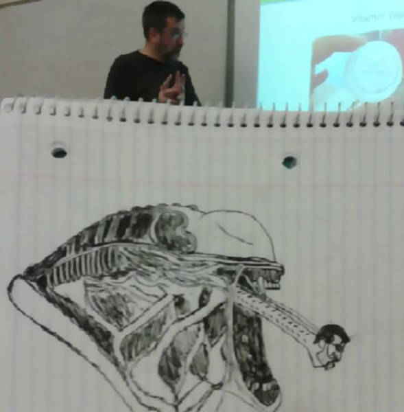 How Boring This Professor Was To Turn His Student Into An Artist?!