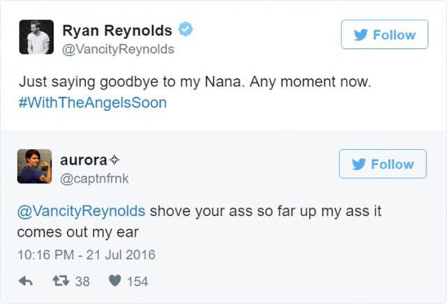 Ryan Reynolds Appears To Receive Quite A Lot Of Crazily Dirty Requests From Fans. He Is Ready For Them, Though