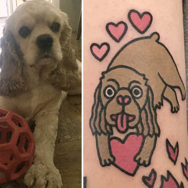 You Won't Find Tattoos More Adorable Than Tattoos With Your Own Pet