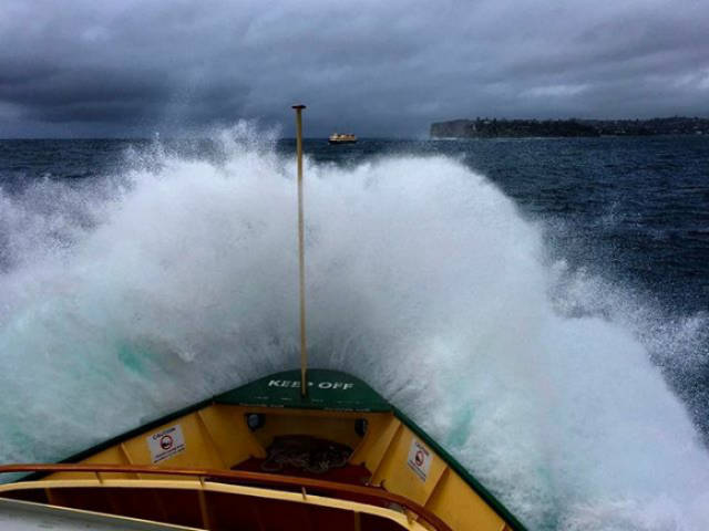 Sydney Ferry Caught In The Middle Of The Storm: Look From The Inside