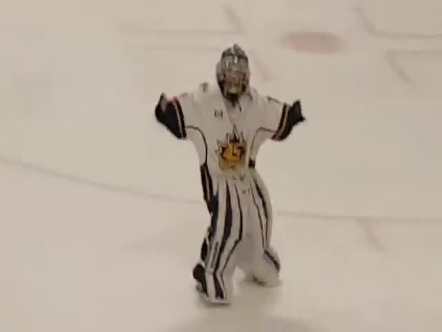 This 8-Year-Old Goalie's Dance Has Set The Ice Rink On Fire!