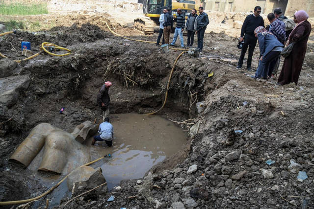 3000-Year-Old Statue Of Egypt's Greatest Pharaoh Ramses II Was Found In Cairo's Slums