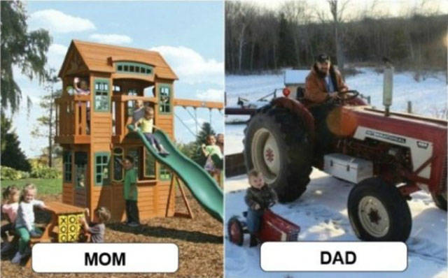 It Becomes Moms Versus Dads When It Comes To Raising Children