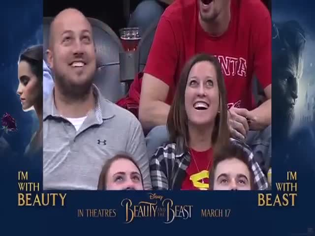 This Woman Doesn't Care Who She Kisses For The Kiss Cam