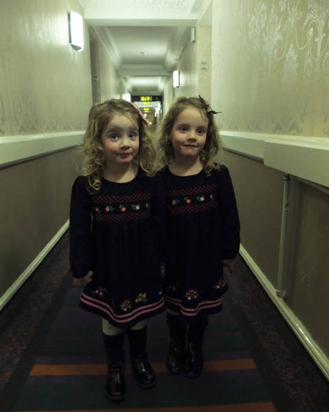 And How Fast Would You Run If You Saw These Two In The End Of A Dimly-Lit Hallway?