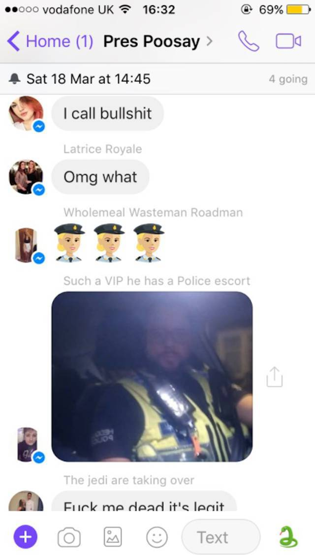 And What Would You Do If You Found Out A Cop Is In Your Group Chat?