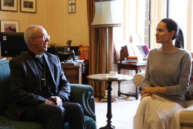 Angelina Jolie Decided To See If Archbishop Of Canterbury Can Control His Desire That Well