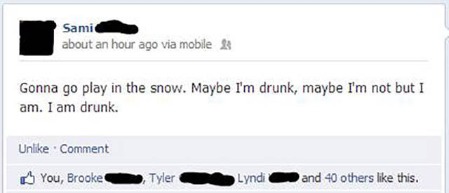 Never Ever Use Facebook When You're Drunk!