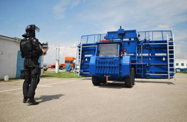 Well, This Anti-Riot Vehicle Looks Like It's Going To Be Very Successful