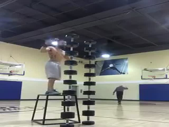 This Old Man Just Casually Outshined That Insane Equilibrist Athlete