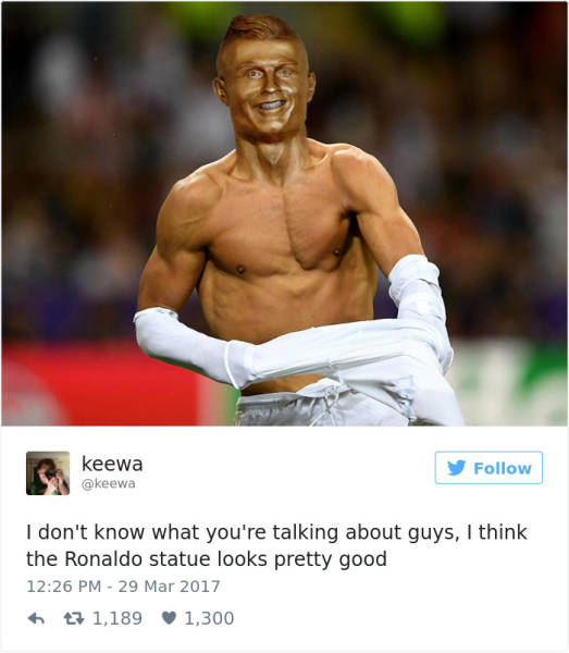 Nothing Wrong With Cristiano Ronaldo's New Statue. Almost