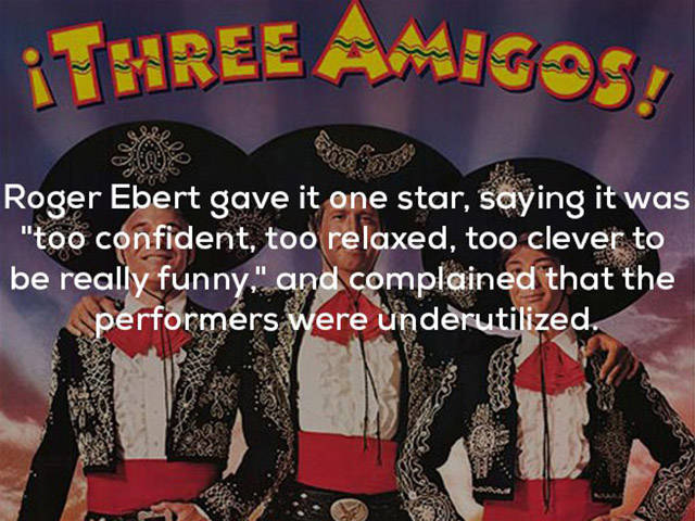 "A Lot More Than Three Facts About The ""Three Amigos"" Movie"