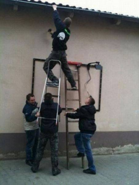A Bunch Of Idiots Who Forgot That Safety Comes First