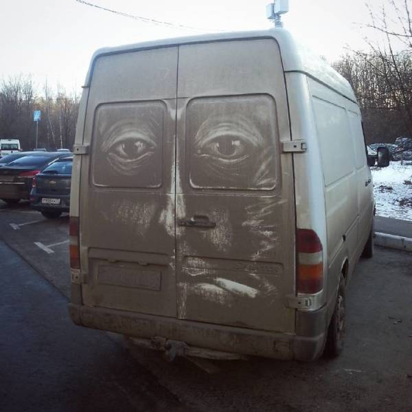 For Artists, Even Dirty Cars Can Become Canvas