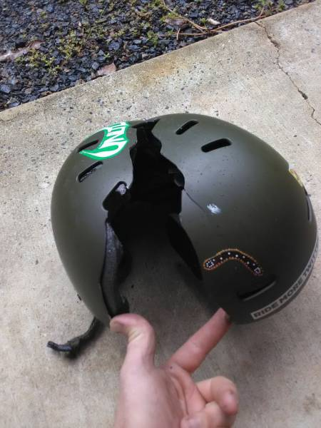 And This Is Why It's Always A Good Idea To Wear A Helmet!