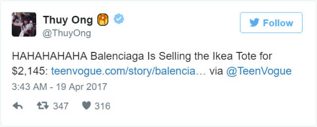 IKEA Reveals How To Differentiate Between Their Original Bag And The Balenciaga Fake That Costs $2145