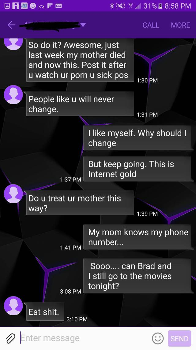 That Mom Not Believing She Had The Wrong Number Is What's Called Persistence