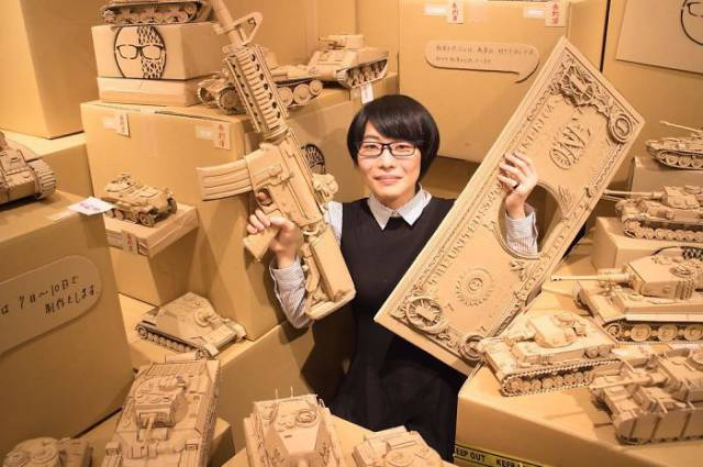 This Japanese Artist Gives Cardboard Boxes A New Life In The Form Of Art