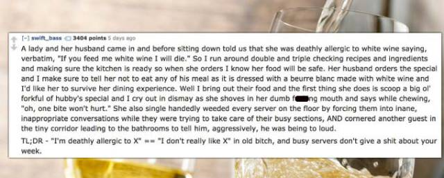 Serving People At Restaurants Can Be A Very Thankless Job
