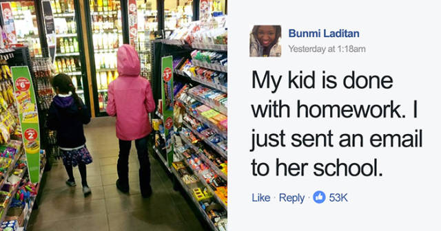 This Mom Decided Her Daughter Is Not Taking Any More Homework, And Here's Why