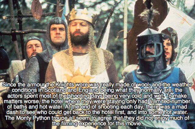 "Holy Sh#t, These ""Monthy Python And The Holy Grail"" Facts!"
