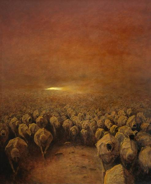 This Polish Artist's Paintings Come From People's Worst Nightmares