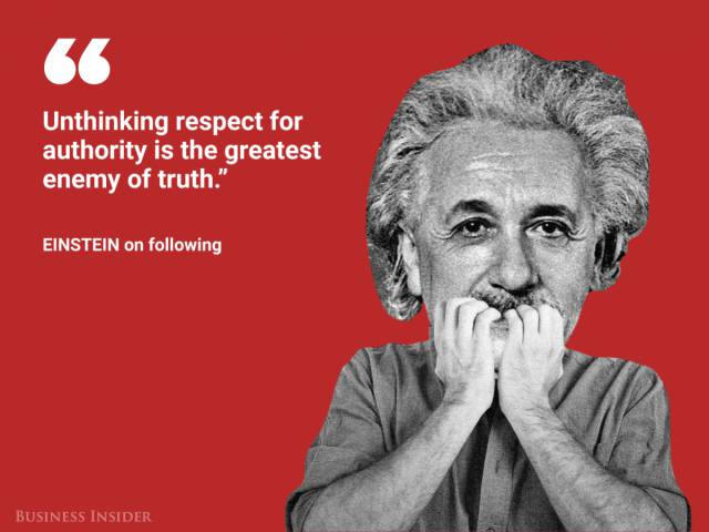 Great Men Are Capable Of Saying Great Things – Albert Einstein Is No Exception