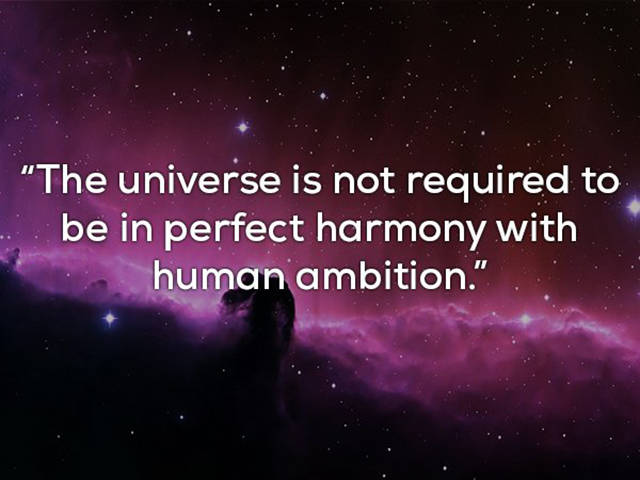 Carl Sagan Seems To Know And Be Eager To Reveal Lots Of Universe's Secrets