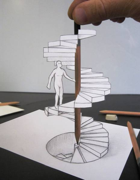 It's Almost Impossible To Believe These 3D Illusions Are Created With Just A Pencil